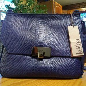 Kooba genuine leather shoulder bag Cobalt